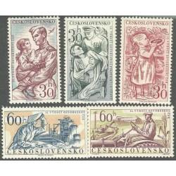 1110- 1114./5/, 15.výročí osvobození Československa,**,