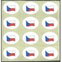 vlajka Česká republika, samolepky,