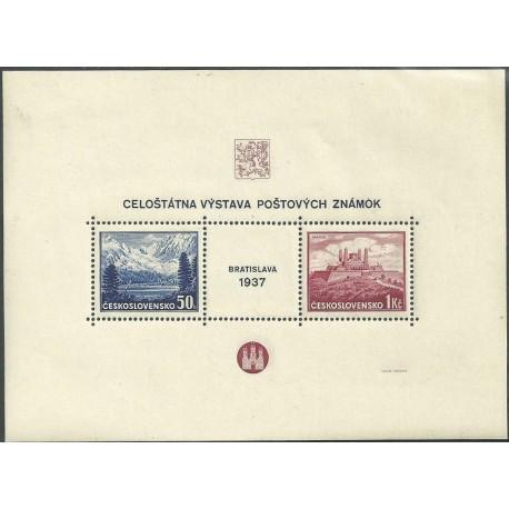 329/330./2/,A,/1/, Výstava poštovních známek Bratislava 1937,**,