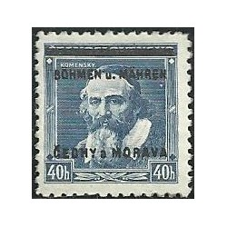 6.- Přetisk J.A.Komenský,**,