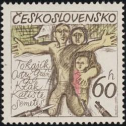 2127.- 30. výročí zničení českých a slovenských obcí za fašistické okupace,**,