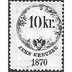156. Ö,kolková známka 1870,o,