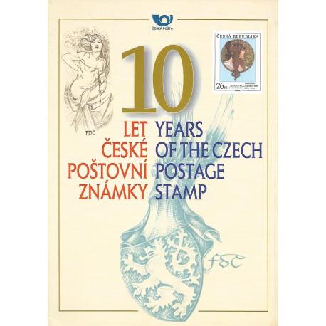 RPP1 10 LET ČESKÉ POŠTOVNÍ ZNÁMKY 2002,