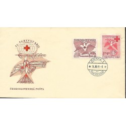 527- 528./2/,FDC/1/, Československý Červený kříž,o,