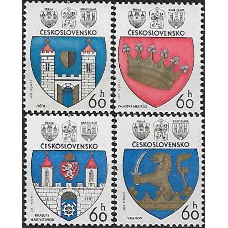 2236- 2239./4/, Znaky československých měst 1977,**,