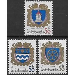 2680- 2682. /3/, Znaky československých měst,**,