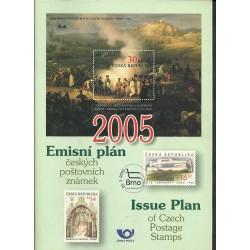 Emisní plán českých poštovní známek na rok 2005,