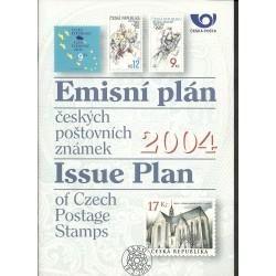 Emisní plán českých poštovní známek na rok 2004,