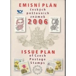 Emisní plán českých poštovní známek na rok 2006,