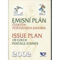 Emisní plán českých poštovní známek na rok 2002,