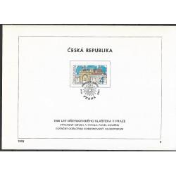 """7.NL, 1000 let Břevnovského kláštera - UNESCO,o"""","""