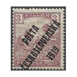 102. /191.III., Uherské výplatní - Ženci, barevné číslice, přetisk,*,