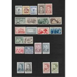 533- 570. /37/, základní řada známek roku 1950,**,