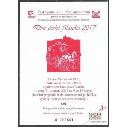 PPM 22. Pozvánka Poštovního muzea v Praze 2017,