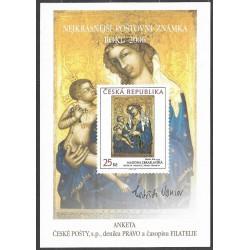 AČP 13. suvenýr  ANKETY ČESKÉ POŠTY , nejkrásnější poštovní známka roku 2006
