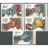 2142 - 2146./5/, Akvarijní ryby,**,