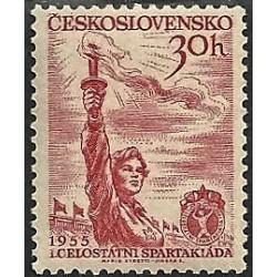 814.- I. Celostátní spartakiáda 1955,**,