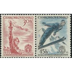814- 815./2/, I. Celostátní spartakiáda 1955,**,