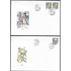 "21- 22./2/FDC/2/, Výročí osobostí ,o"", 1993,"