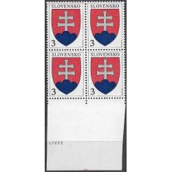 163.,čtbl, Malý státní znak,**,