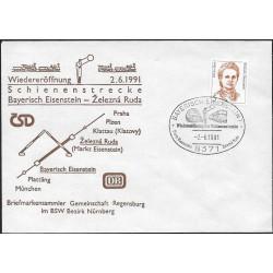 """1405.FDC/1, Bayerisch Eisenstein - Železná Ruda 2.1.1991,o"""","""