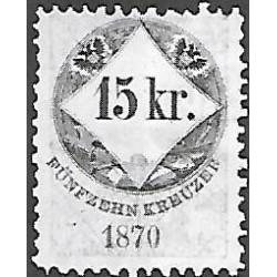 158. Ö,kolková známka 1870,o,