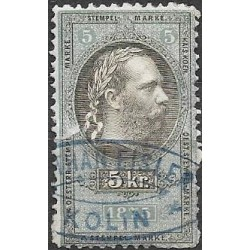182. Ö,kolková známka 1875,o,