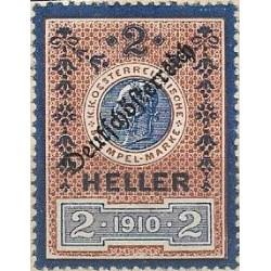 437.,Deu, Ö,kolková známka 1910,o,