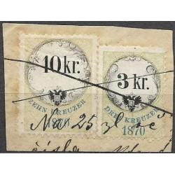 157.156.,výstř., Ö,kolková známka 1870,o,