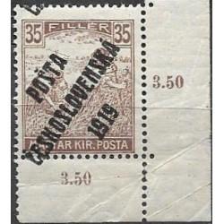 109. /198.,roh, Uherské výplatní - Ženci, barevné číslice, přetisk,*,