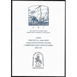 AČP 9. suvenýr ANKETY ČESKÉ POŠTY, nejkrásnější poštovní známka roku 2001,o,