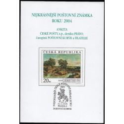 AČP 11. suvenýr  ANKETY ČESKÉ POŠTY , nejkrásnější poštovní známka roku 2004